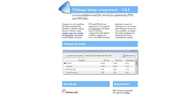 8 trimage - 12 ferramentas para você compactar suas imagens e reduzir o tamanho em até 80%