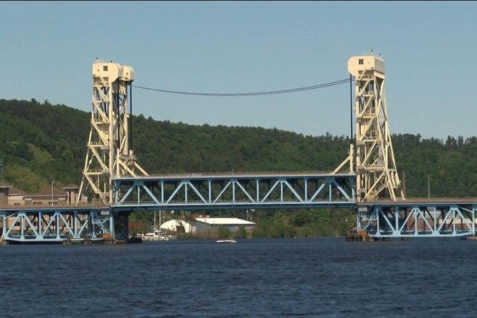 Work continueson Portage Lift Bridge