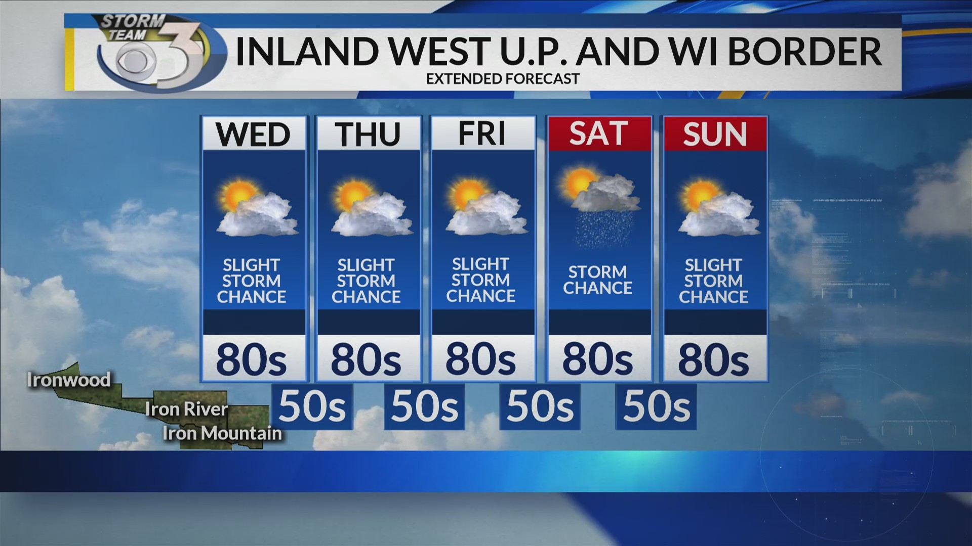 LOCAL 3 WEDNESDAY'S WEATHER FORECAST 6/26/2019