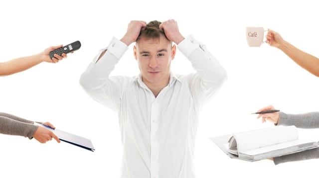 a person with a headache