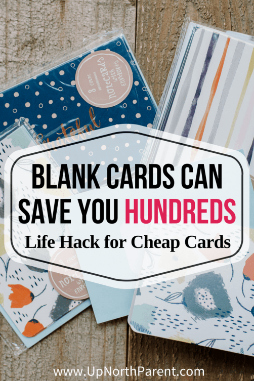 Life Hack for Cheap Cards - How Blank Cards Can Save You Hundreds