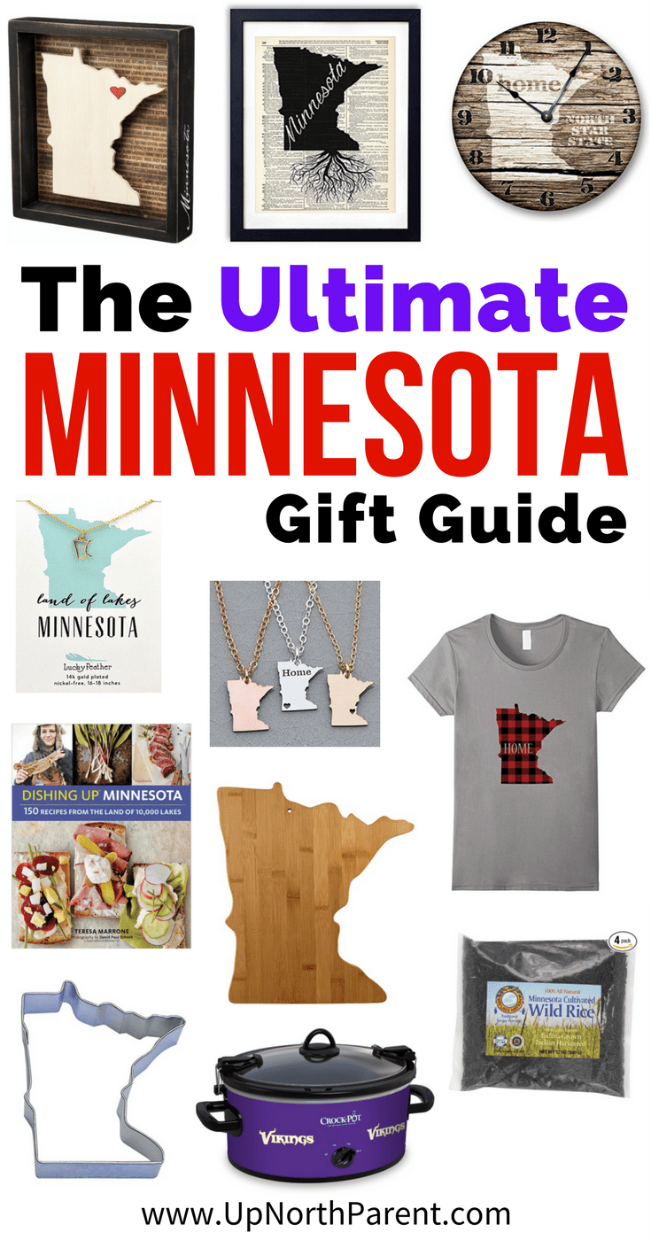 The ultimate Minnesota gift guide, full of 11 gift ideas for the Minnesotan on your list. Home decor, jewelry, kitchen, Minnesota HOME clothing and more! #minnesota #giftguide #giftideas #MN