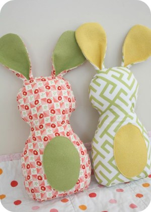 Fabric Bunny DIY   Up North Parent The Simplicity Project
