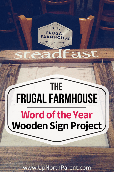 Word of the Year Wooden Sign Project from Frugal Farmhouse