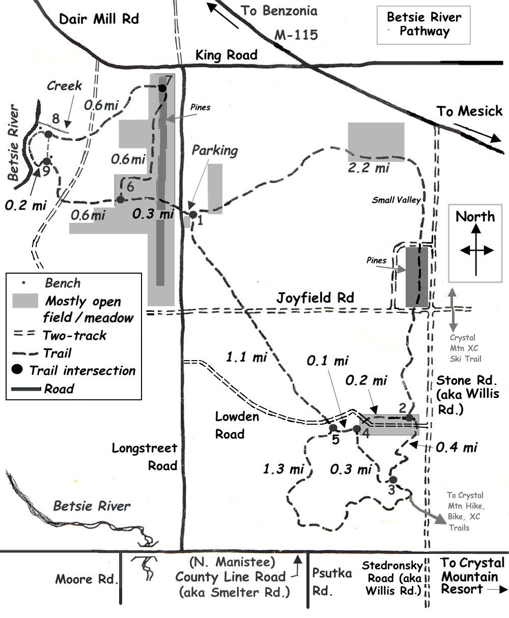 Betsie River Pathway : Up North Trails