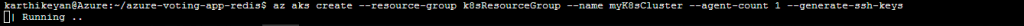 Azure create cluster