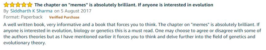 the selfish gene book review