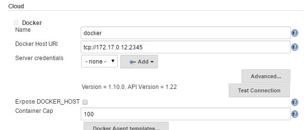 Set Docker Agent options