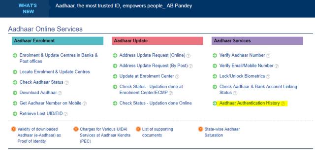 Aadhaar Website
