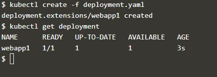 Use kubectl create command to create deployment