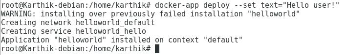 Install Docker App