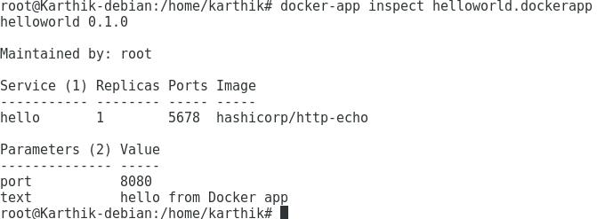 Inspect Docker App