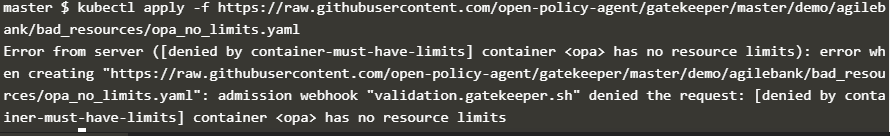 OPA Gatekeeper Container Limits Constraint Testing