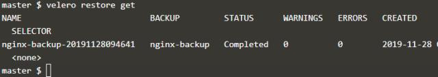 List Velero backups
