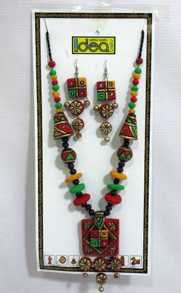 Send Terracotta Jewellery Set With Necklace And Earring