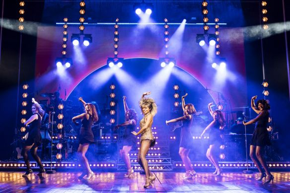 18. centre Adrienne Warren as Tina Turner. Photo by Manuel Harlan