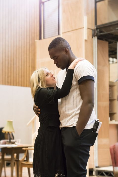 5. Sinéad Matthews and Martins Imhangbe in rehearsal for Absolute Hell (c) Johan Persson
