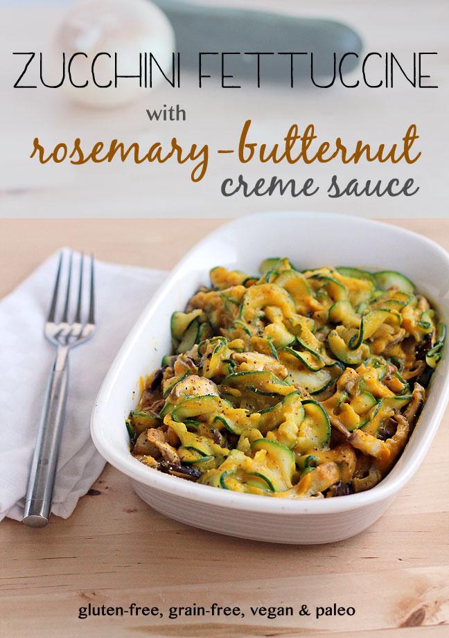 zucchini rosemary pasta