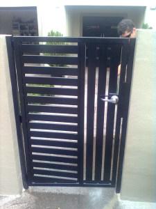 Aluminium Slat Swing Gate Brisbane