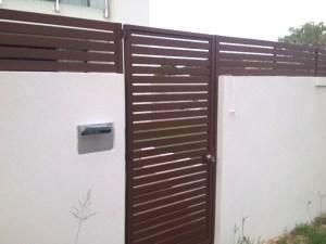 Aluminium Slat gate logan