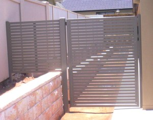 Aluminium Slatted Gate
