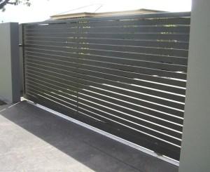 Aluminium Slatted Sliding Gate Brisbane
