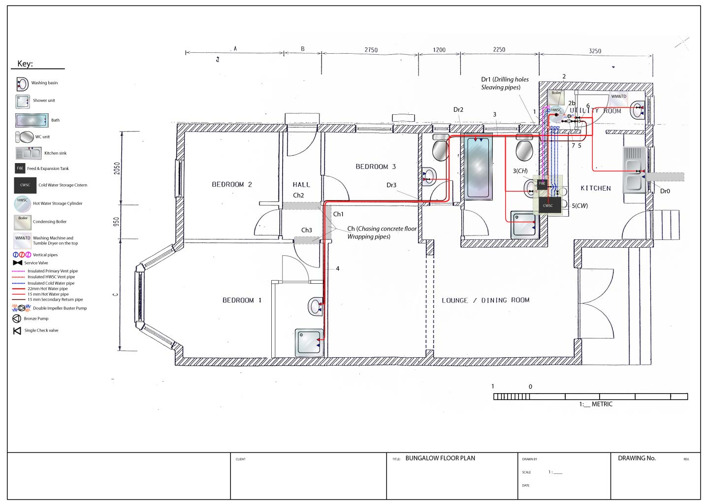 hight resolution of hot water supply service plan