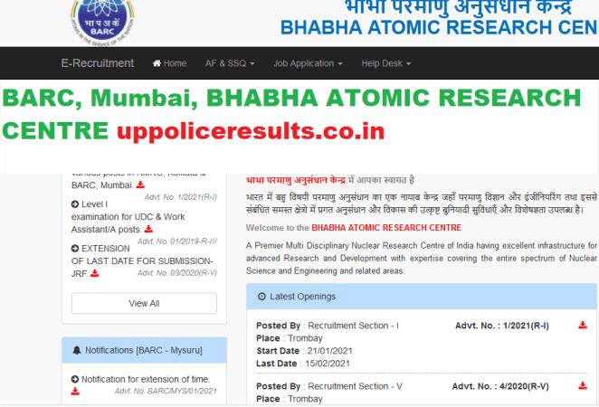 DIRECT Recruitment For Various posts in RMRC, Kolkata and BARC, Mumbai,BARC APPLY Now