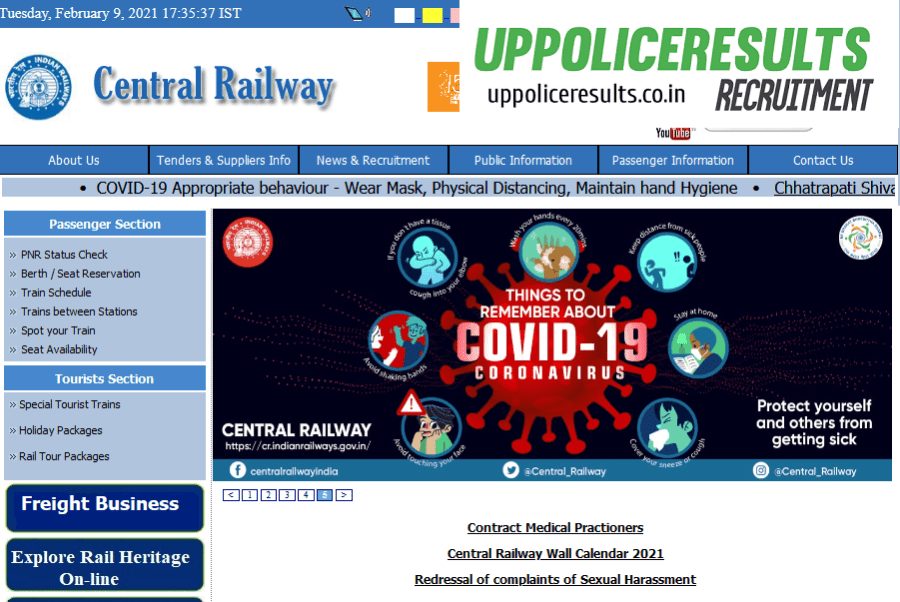 Central Railway recruitment for 2500+ vacancy apprentice Posts