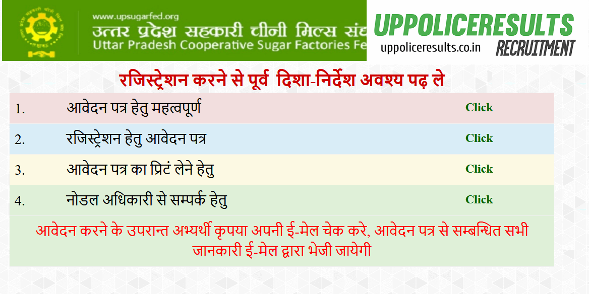 UP Sugar Mill Recruitment Notification 93 Vacancy Apply Now
