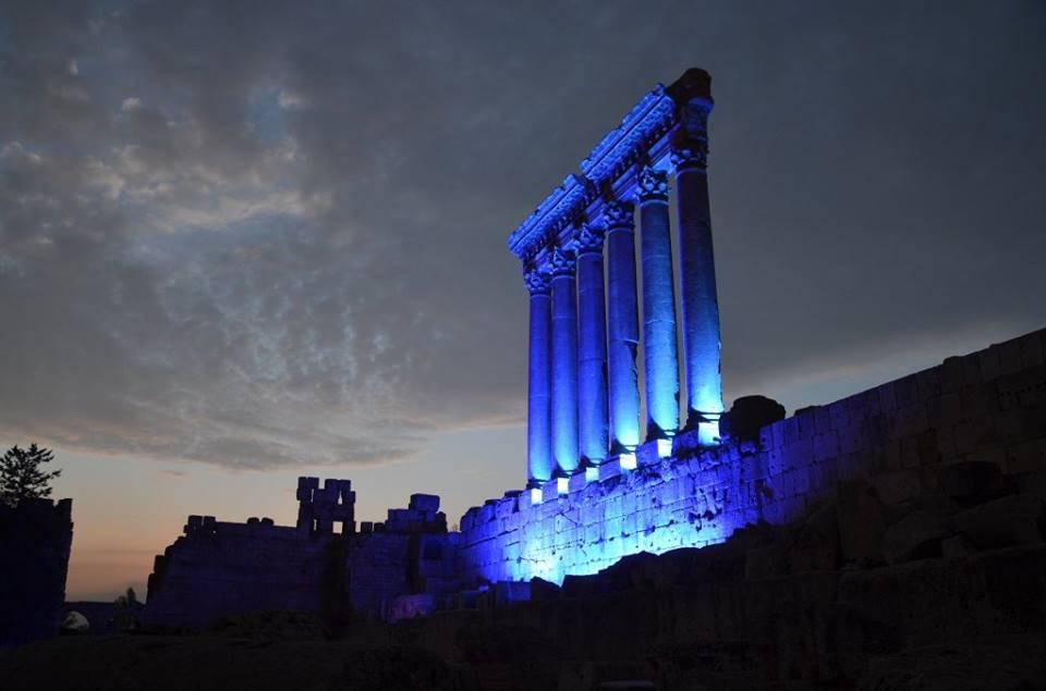 احتفالاً بالذكرى الـ70 للأمم المتحدة:لبنان مضاء باللون الأزرق