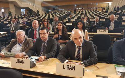 السفير بدّورة يلقي كلمة لبنان في الدورة 107 لمؤتمر العمل الدولي في جنيف
