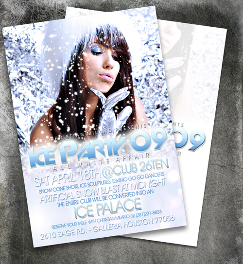 Night Club Flyer - Ice Party