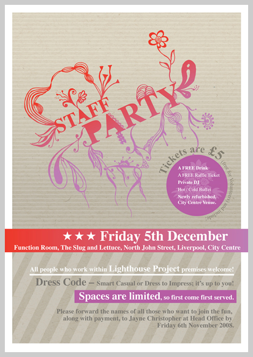 Sample Party Invitations - Lighthouse Project Party