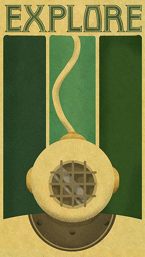 Art Nouveau Poster - fusion
