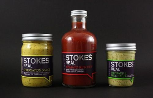 Stokes Sauces Jar Labels