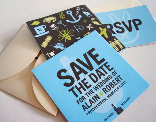 Square save the date psotcard