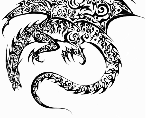 Collection Of 25 Dragon Tattoo Drawing