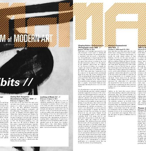 Museum of Modern Art Newsletter - Issue #4 Inside
