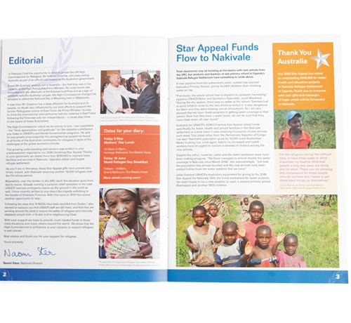 """UNHCR """"With You"""" Newsletter - Inside pages 02"""