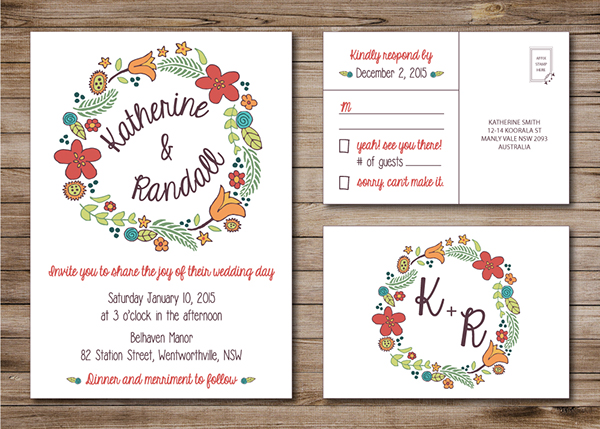 Save the date wedding postcard traditional