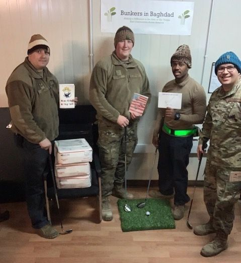 US military receives Beanies for Baghdad and Bunkers for Baghdad donation