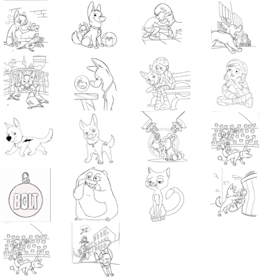 Disney Bolt Birthday Invitations, Candy Wrappers, Thank