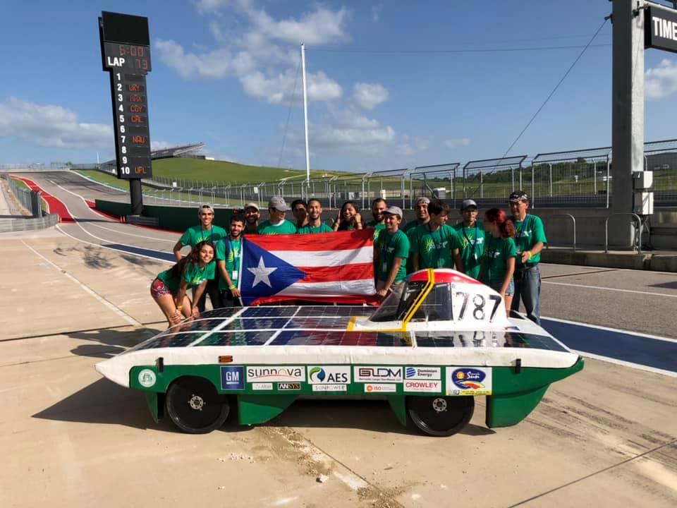 El equipo del carro solar del RUM se posicionó en sexto lugar en la ACS Solar Racing. Suministrada