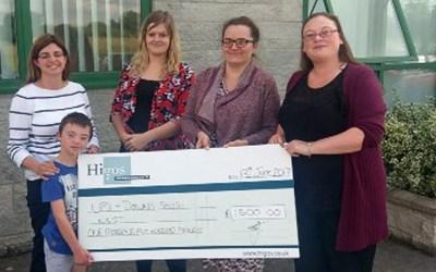 HIGOS £1500 Donation
