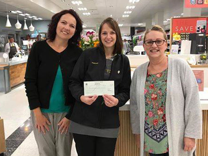 Winning with Waitrose - Hollie and Liz receiving cheque