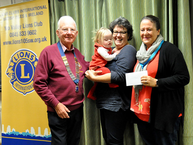 Yeo Valley Lions Cheque Presentation Ups and Downs Southwest