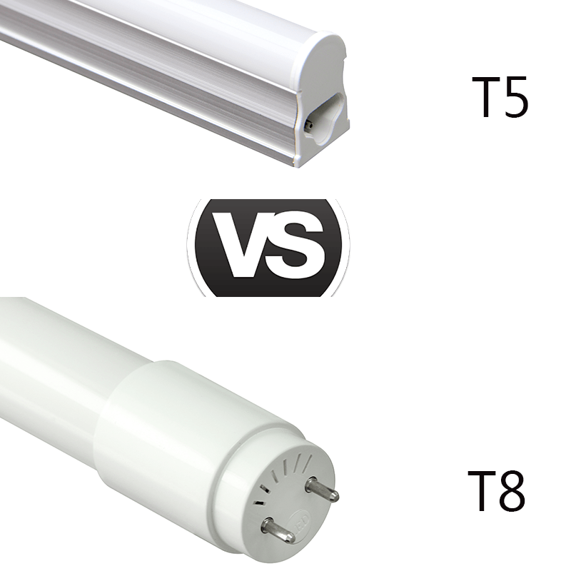 What are the differences between LED tubes T5 and T8? - UPSHINE Lighting
