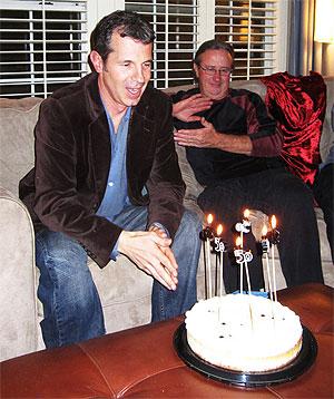 Nick celebrates h<a class=
