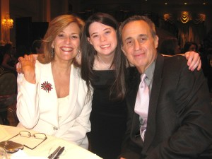 Leah with Broadway composer/conductor/songwriter David Friedman and Broadway actress/singer Karen Mason at the Gala, 2012